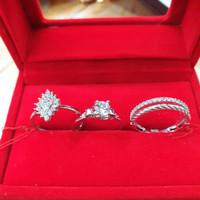 cincin emas putih simple manis