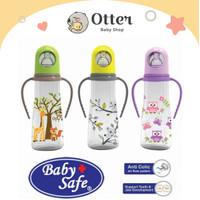 BABY SAFE Feeding Bottle With Handle 240ml JP005- Botol Dot Susu Bayi