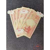 Uang Kertas Lama Kuno Rp 100 Rupiah Perahu Pinisi Merah Mahar Koleksi