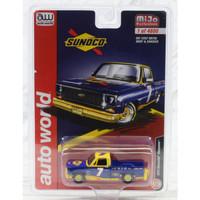 Miniatur Diecast Auto World 1/64 1973 Chevrolet Cheyenne Pickup Sunoco
