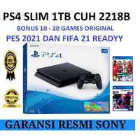 PLAYSTATION 4 PS4 SLIM HDD 1TB GARANSI SONY INDONESIA BONUS FULL GAME