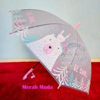 Payung anak/ payung motif/ payung karakter transparan doff K293P