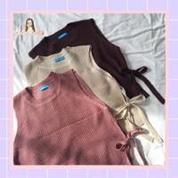 Vest Wanita Knit Ribbon Import