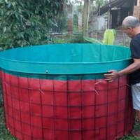 KOLAM TERPAL IKAN FULLSET D2/ T 1 meter. kolam bulat bioflok