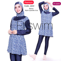 baju renang wanita muslim jumbo/big size-baju renang wanita muslimah - JB21, 4L