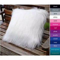 sarung bantal sofa bulu korea russian fur/sarung bantal import 45x45cm