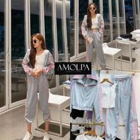 Baju Set Wanita 3pc Sport Outfit Set BJ77460