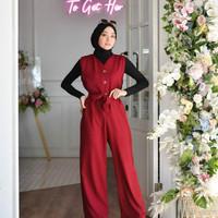 Baju Gamis Wanita Muslim Cantik Terbaru Raquel Jp Jumpsuit
