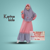 Gamis Anak 8-10 tahun by TOF KARINA KIDS pink Baju Muslim Anak