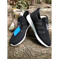 PROMO Sepatu Adidas Cloudfoam hitam/abu-abu Pria Wanita