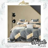 set bedcover katun lokal Napoli ukuran 180x200 160x200