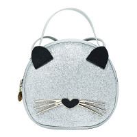 New Tas Selempang Mini Wanita Bulat Leopard Cat Import Asli FLBJ185 - White