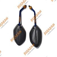 Spion Carbon Honda Beat Karbon Twotone 2 Tone Universal Sepasang