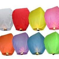 Lentera Lampion Terbang isi 10pcs/Flying Sky Lanterns
