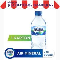 Aqua Botol 600ml Air Mineral 600 ml - 1 Dus