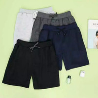Celana Pendek Pria Distro Premium Harga MURAH Bahan Baby Terry AllSize - Navy (Cln Pdk), All Size