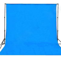 Background Kain 3 x 2.5 meter /Biru Muda