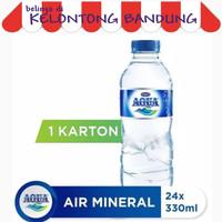 Aqua Botol 330ml Air Mineral 330 ml - 1 Dus