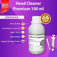 Head Cleaner 100ml Cleaning Printhead HP GT51 GT52 Canon CA91 CA92 745