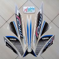 Striping Stiker Motor Yamaha Mio J Sporty 2014 Full Putih-Biru