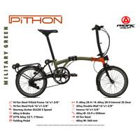 """Sepeda Lipat PACIFIC Trifold Pithon 16"""" (Folding Bike)"""
