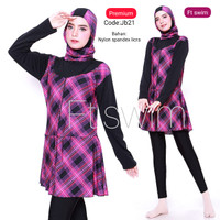 baju renang jumbo-baju renang muslim jumbo/big size-baju renang wanita - JB21, 7L