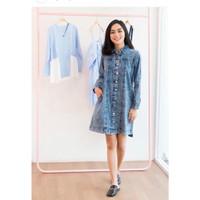 MYREDO - Kemeja Panjang Jeans Wanita Azela