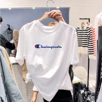 t shirt kaos baju oblong wanita dan pria unlined motif champ