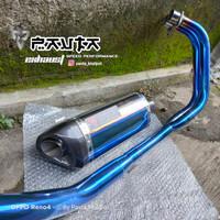 Knalpot Racing Blue Venom Fullsystem CBR250RR Header Full Blue Bending