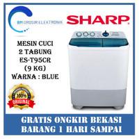 SHARP ES-T95CR (2 Tabung / 9 Kg) – Mesin Cuci