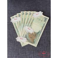 Uang Kertas Lama Kuno Rp 500 Rupiah Orang Utan Monyet Mahar Koleksi