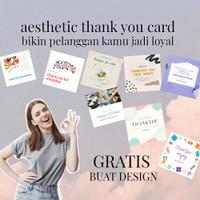 Custom Kartu Ucapan Terima Kasih Olshop Thank you card - Thanks Card