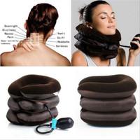 Bantal Leher 3 Tingkat Bantal Angin Terapi Cervical Collar Bant - VALVE BIASA
