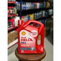 Oli Mesin Shell Helix HX 3 20W 50 Bisa Untuk Bensin & Diesel (4 Liter)