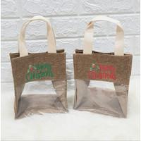 Tas mika / Tas kanvas / Tas souvenir natal bisa custom nama