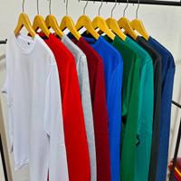 Kaos polos cotton 30s - baju polos lengan panjang unisex - t shirt