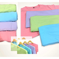 Kaos Polos Wanita & Pria Cotton Combed Lilac,Cotton Candy,Mint,BlueSky - S