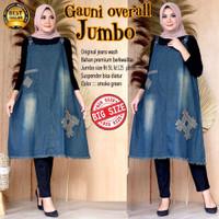 Baju kodok Overall Jeans Jumbo / Jumpsuit Wanita / Rok Kodok Murah