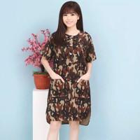 Cellie Dress Army Loreng Baju Wanita Best Seller NND