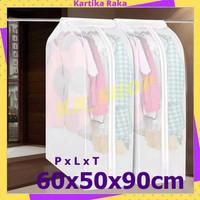 KR Cover Baju Anti Debu Waterproof Pelindung Pakaian Gantung 60x50x90