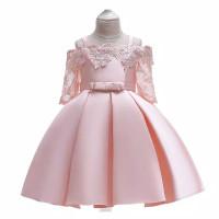 DRESS ROK PESTA KEMBANG ANAK WANITA L5083 - 6-7 tahun, Merah Muda