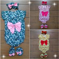 Baju Fashion Pakaian Jumper Anak Bayi Cewek Perempuan Flo (0-6 bln)