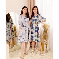 Dress Wanita Lorin Dress Bahan Katun Rayon Fashion Wanita - Motif A