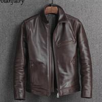 jaket kulit asli pria -jaket kulit asli domba garut KD-530 - Hitam, XXL