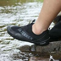 Sepatu Adidas Terrex CC Jawpaw Slip On Black Grey