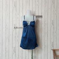 SKA201 Sexy Lingerie Biru Dress - Baju Tidur Tipis Transparan Wanita