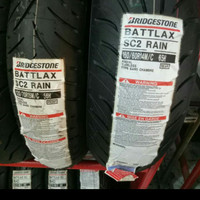 PAKETAN BAN LUAR BATTLAX SC 2 RAIN UKURAN 120/70-15 DAN 160/60-14