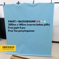 Paket Lengkap T-stand dan Background warna polos / motif 200cm x 200cm