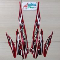 Striping Stiker Motor Yamaha Mio Sporty 2010 Merah