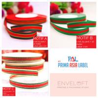 Pita Kado Natal Merry Christmas Hampers Ribbon Merah Hijau Emas 1 Roll